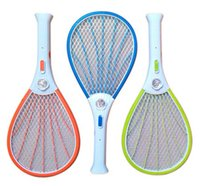 Wholesale Mosquito Nets Swatter Bug Insect Electric Fly Zapper Killer Racket Rechargeable With LED Flashlight Household Sundries Pest Control