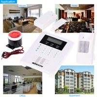 band alarm systems - KKMOON Quad Bands GSM PSTN LCD Display Wireless Home Security Alarm Burglar System Zone Wireless Zone And Wired S521