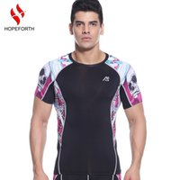 Men base layer shorts - Compression T Shirts Mens Short Sleeves Weight Liftng Fitness Base Layer Bodybuilding Tights Running Shirts Clothing