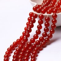 Wholesale Crystal DIY jewelry accessories Natural red agate beads semi finished products Manual hand bead materia