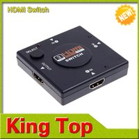 Wholesale Mini Port HDMI Switch Switcher HDMI Splitter HDMI Port for HDTV P Vedio Drop Shipping