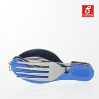 Wholesale 2015 New Acampamento Capinhas Camping Cookware Tool Camping Tableware Stainless Steel Portable Foldable Outdoor