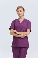 medical scrubs - 2015 OEM scrub sets medical uniforms women scrubs cotton nurse scrub suit plus size hot selling