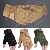 Wholesale Outdoor Sports Fingerless Military Tactical Hunting Riding Game Gloves SV001927