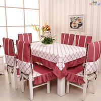 Wholesale 2015 New Table Cloth Design Fashion Banquet red Tablecloth Rectangular Home Decor Dining Tablecloths Chair Cover Set cm