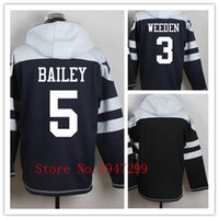 bailey football - Factory Outlet Men s Brandon Weeden Dan Bailey Jersey Pullover Hoodies Sweatshirt
