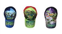 Wholesale Teenage mutant ninja turtles hat Frozen baseball cap Children Hats Baby Girl Adjustable hats Monster High hats Girls Boys hats