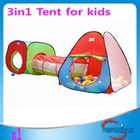 Wholesale CHpost Childrens Kids tent indoor or outdoor Pop Up Play Tent and Tunnel Set In Red Blue Green ZY ZP