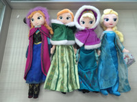 Wholesale Frozen Movie cm Princess Queen Elsa Plush Dolls Two Braid quot Anna Elsa In Winter Doll Toys Kids Girls Cartoon Anime Doll Birthday Gift