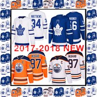 851efe3a7 2017-2018 New 97 Connor McDavid 34 Auston Matthews 16 Mitch Marner Jersey  Toronto Maple Leafs Edmonton Oilers Hockey Jerseys ...