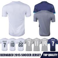 Men soccer uniforms - Whosales MadrIdDdsss Jersey Soccer Jerseys football Shirt Cristiano Ronaldo Bale James Kroos Benzema Soccer uniform S XLThai Free ship