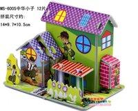 Wholesale 2015 new D three dimensional puzzle Children s educational toys diy Castle cottage Paper model Puzzles DHL