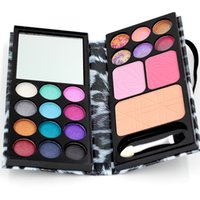 palette 18 color - Eyeshadow Palette Professional Eyes Charms color Eyeshadow color Blush Foundation Makeup Palatte Make Up Kit E A