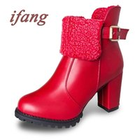 Wholesale Red Bottom High Heels Women Shoes Soft Patent Leather Winter Boots Sexy Shoes Woman Outdoor Wedding Round Toe Women Boots