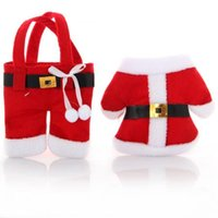christmas bag - Hew Party Supplier Santa Claus Christmas decorations Cutlery Holder Bags Fork Spoon Pockets Christmas Decor