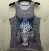 animal armadillo - men women animals Armadillo print shirt vest D Galaxy hot unique Punk tanks Hot Tee Priodontes maximus new summer style