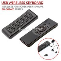 air tv series - SG G62A C Series mini air mouse GHz wireless axis gyroscope wireless keyboards for computer TV HTPC English use manual