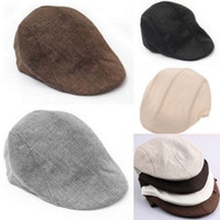 Wholesale New Unisex Women Men Newsboy Flat Cabbie Beret Duckbill Golf Driving Women Cap Hat