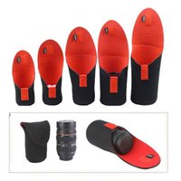 Wholesale 5pcs Neoprene DSLR Camera Lens SoftProtector Pouch Bag Case Set S M L XL XXL