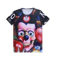 Men mma shirt - 2015 Print Tshirs D Men emoji t shirt mma Camisas mens clothing hiphop rainbow clown Coco letter Graffiti men casual men s fashion T shirt
