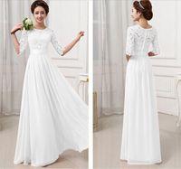 Wholesale Sexy Womens Chiffon Lace Boho Long Maxi Evening white lace dresses women Formal Party Runway Dress