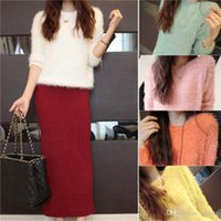 womens jumpers - 2015 Womens Ladies Round Neck Long Sleeve Pullover Jumper Loose Sweater Tops pieces