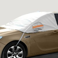 Wholesale Half Car Covers Waterproof Sun Universal Car Windshield Covers Dustproof Outdoor Cover Anti Uv Scratch Resistant Aluminium And Reflective