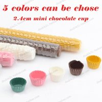 Wholesale 2 cm Chocolate Paper Cups Mini Case Whosales Dessert cup Chocolate Holder Disposable Chocolate Packing Party Decoration