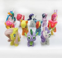Wholesale New Sale My Little Pony Cake Toppers Cupcake piece set Toys Figures Playset FREE SHIP Favors