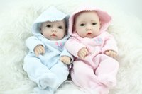 Cheap 10 Inches Reborn fake Baby Dolls Silicone Vinyl Lifelike Baby Toys Mini Dolls Matryoshka Doll Unisex