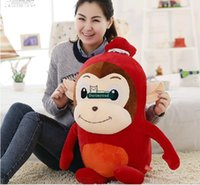 bear sausage - Dorimytrader New cm Large Stuffed Soft Plush Giant Red Sausage Monkey Toy Nice Gift for Babies DY60431