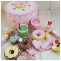 Wholesale wooden toys Mother garden strawberry donuts child wooden toys toys