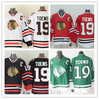 Wholesale Chicago Toews White Red Green Black Hockey Jerseys Ice Winter Home Away Jersey Stitched Logo Authentic Mix Order