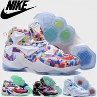 Wholesale 2016 Mens nike lebron xiii basketball shoes for sale Discount nike lebrons basketball shoes Cheap lebron james sneakers LJ13 Retro Shoes