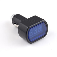 Wholesale DC V V Mini Digital LED Display Cigarette Lighter Electric Voltage Meter Detector Monitor For Car Battery