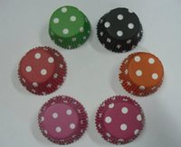 Wholesale lastest new inch color mix dots cupcake cupcakes liners baking paper cup muffin cases for party