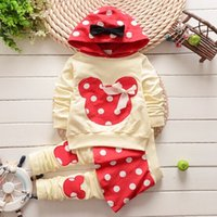 Wholesale 4set KIDS CLOTHES CHILDREN S WEAR SPRING GIRLS CLOTHING SETS HOODIES PANTS DOT BABY CLOTHES SPORTS SUIT
