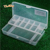 Wholesale Road sub fishing box two layers of transparent double layer halleluyah fishing lure box small fishing tackle box