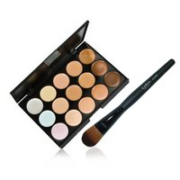 Wholesale 1 x15 Colors Concealer Palette Sponge Puff Powder Brush Makeup Kit