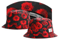 Wholesale black red rose floral cayler sons bucket hats fisherman caps for men and women hip hop style gorras bone hot selling