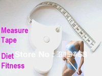 Wholesale 50pcs Accurate Diet Fitness Caliper Measuring Body Waist Tape Measure FEDEX