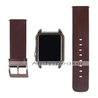 pc case - 1pc New Leather Wrist Strap Watch Band PC Cover Case For Apple Watch MM mm