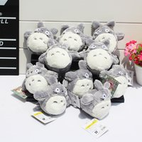 Wholesale My Neighbor Totoro plush toy Fairy dust plush with Ring Soft Doll Totoro keychain Ponyo figure KiKis Toys