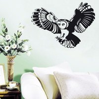barn packages - Flying Barn Owl Wall Sticker Living Room PVC Self Adhesive Bird Sticker On Wall Home Decor Accessories