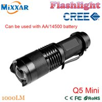 mini bikes - ZK30 LM LED Flashlight LED CREE Q5 Mini Bicycle Light LED Bike Light Front Torch Modes Zoomable Light Waterproof