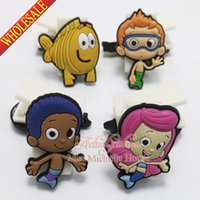 Wholesale Bubble Guppies paper clip binder clip plastic clip Paper Clips Creative bookmarks cartoon bookmarks soft rubber PVC bookmarks for stationery