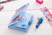 Wholesale fashion Minions journal Notepads Office School Frozen Stationery Sets kids standard pencils Ballpoint pen Notepad Notebooks Party Gifts