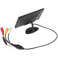 2pcs 4,3 pouces 480 x 272 TFT couleur écran LCD 2 canaux d'entrée vidéo Vue arrière de voiture Moniteurs support multi-rôle affichage CMO_332