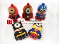 Wholesale Pen drive cartoon super heros minions usb flash memory stick pendrive GB GB GB GB usb flash drive u disk