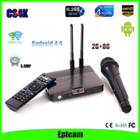 Cheap Mini pc CS4K RK3288 2G+8G+5.0MP XBMC Android TV BOX Quad Core Android 4.4 Wireless Karaoke Microphone Smart TV Box
